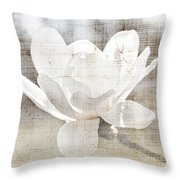 Magnolia Flower Throw Pillow by Elena Elisseeva