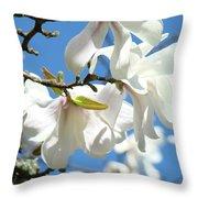 Magnolia Flowers Floral Art Spring Flowering Tree Baslee Troutman Throw Pillow