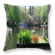 Magnolia Gardens In Charleston Throw Pillow