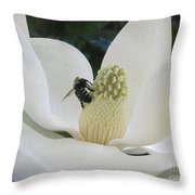 Magnolia Honey Throw Pillow