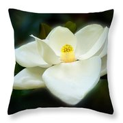 Magnolia In Color Throw Pillow