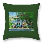 Magnolia Inn Throw Pillow