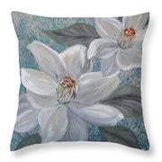 Magnolia Melody Throw Pillow