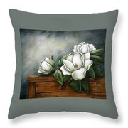 Magnolia On A Chest Throw Pillow