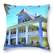 Magnolia Plantation House Throw Pillow