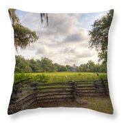 Magnolia Plantation South Carolina Throw Pillow