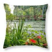 Magnolia Plantation Swamp Garden Throw Pillow