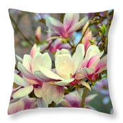 Magnolia Spring Throw Pillow