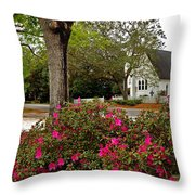 Magnolia Springs Alabama Church Throw Pillow