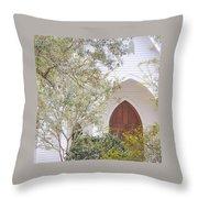 Magnolia Springs Church Throw Pillow