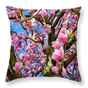 Magnolia Tree Beauty #3 Throw Pillow