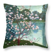 Magnolia Throw Pillow by Wilhelm List