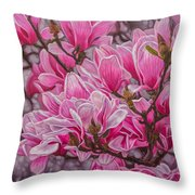 Magnolias 1 Throw Pillow