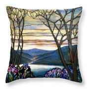 Magnolias And Irises Throw Pillow