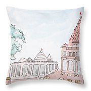 Mahakaleshwar Jyotirlinga Throw Pillow