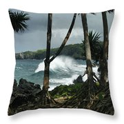 Mahama Lauhala Keanae Peninsula Maui Hawaii Throw Pillow