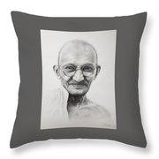 Mahatma Gandhi Throw Pillow