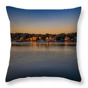 Mahone Bay From Oakland Throw Pillow