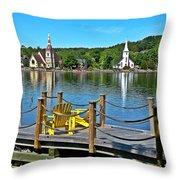 Mahone Bay Nova Scotia Throw Pillow