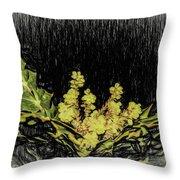 Mahonia Blossom Throw Pillow