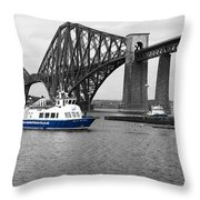 Maid Of The Forth In Blue. Throw Pillow