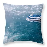 Maid Of The Mist American Side  Throw Pillow