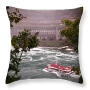 Maid Of The Mist Canadian Boat Throw Pillow
