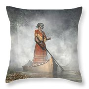 Maid Of The Mists Throw Pillow