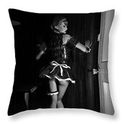 Maid Service Throw Pillow