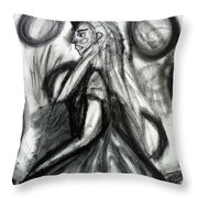 Maiden Of The Moon Throw Pillow
