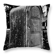 Mail Box Throw Pillow by David Lee Thompson