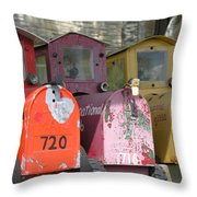 Mail Boxes Wi Throw Pillow