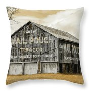 Mail Pouch Barn - Us 30 #3 Throw Pillow