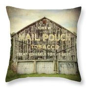 Mail Pouch Barn - Us 30 #7 Throw Pillow