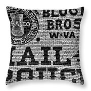 Mail Pouch Days Throw Pillow