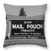 Mail Pouch Tobacco In Black And White Throw Pillow