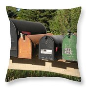 Mail Seakers Throw Pillow