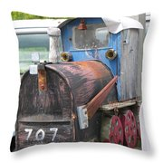 Mail Truck Throw Pillow