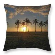 Maili Sunset Throw Pillow