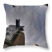 Main And Genesee St Downtown Buffalo Throw Pillow