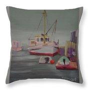 Main Boat 1 Throw Pillow