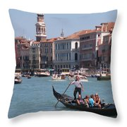 Main Canal Venice Italy Throw Pillow