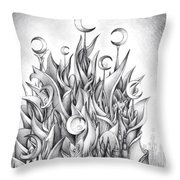 Main Castle Of The Silver Moon Empire Throw Pillow