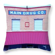 Main Drug Company Throw Pillow