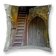 Main Entrance To St Mary's Church At Brading Throw Pillow