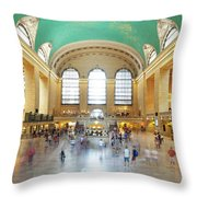 Main Hall Grand Central Terminal, New York Throw Pillow