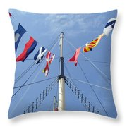 Main Mast Of Ss Great Britain At Bristol England Throw Pillow