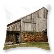 Main Part Of Amana Farmer's Market Barn Amana Ia Throw Pillow
