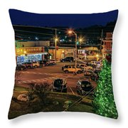 Main Street Christmas Throw Pillow
