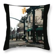 Main Street Throw Pillow